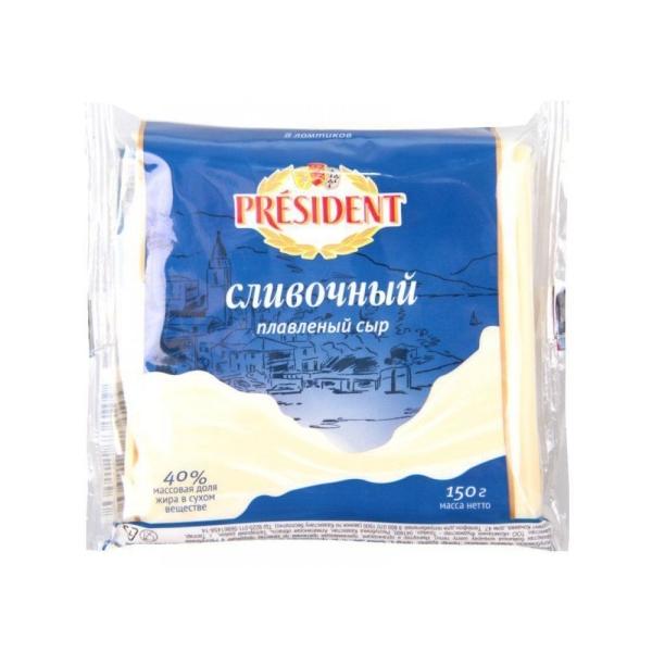 Сыр плавленный Президент Мастер Бутерброда сливочный 40% ломтики