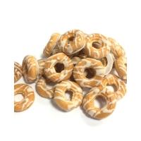 Печенье Баттерфляй Колечки хрустящие в белой глазури