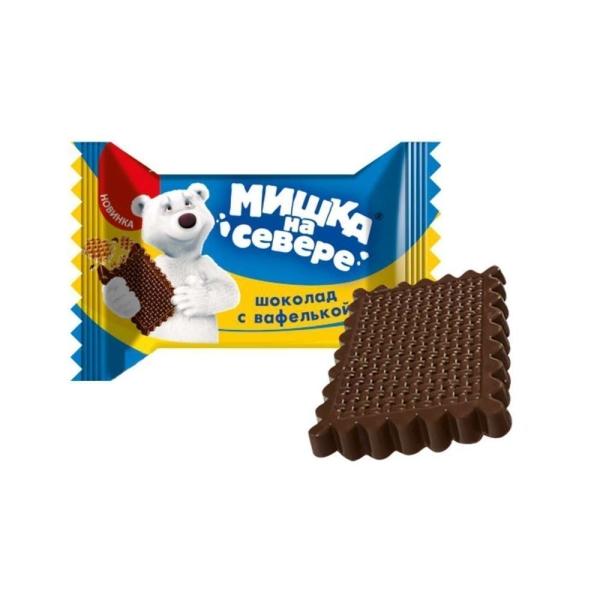 Шоколад Славянка Мишка на севере с вафлями