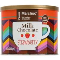 Напиток растворимый Marchoc молочный шоколад со вкусом клубники