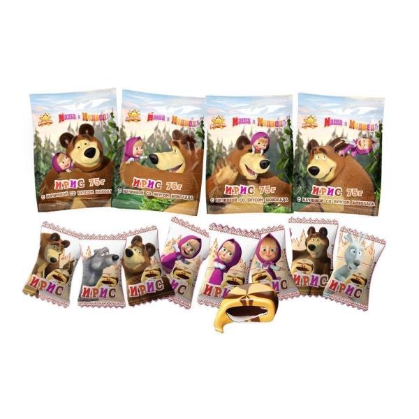 Ирис Ламзурь Маша и Медведь с шоколадной начинкой