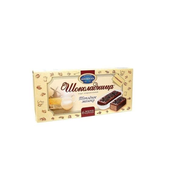 Торт вафельный Шоколадница Топленое молоко порционный
