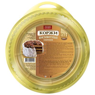 Корж Русский Бисквит светлый