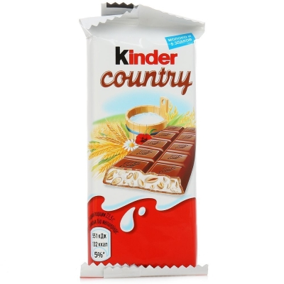 Шоколад молочный со злаками Киндер Кантри