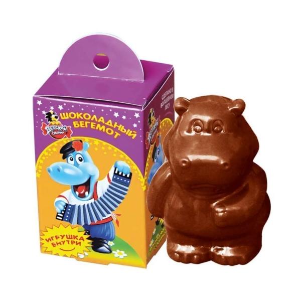 Шоколад фигурный Славянка Детский сувенир Бегемот