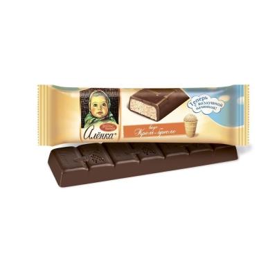Батончик шоколадный Красный октябрь Аленка крем-брюле