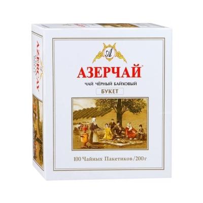 Чай АЗЕРЧАЙ Букет черный байховый 100 пак.