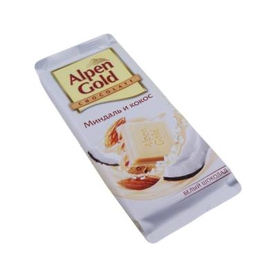 Шоколад Альпен Гольд белый Миндаль-Кокос