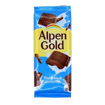 Шоколад Альпен Гольд молочный