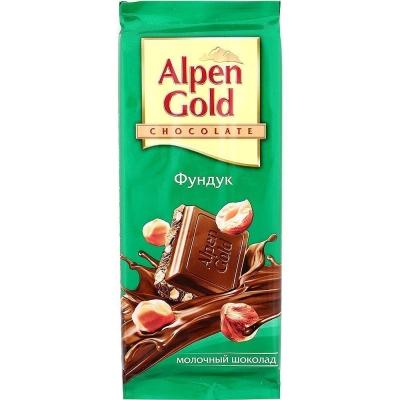 Шоколад Альпен Гольд молочный Фундук