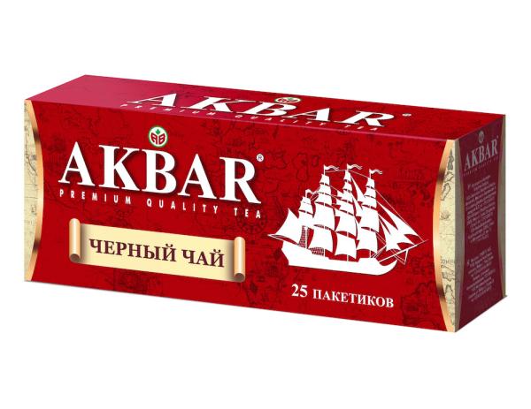 Чай Акбар Корабль черный 25 пак с ярлыком