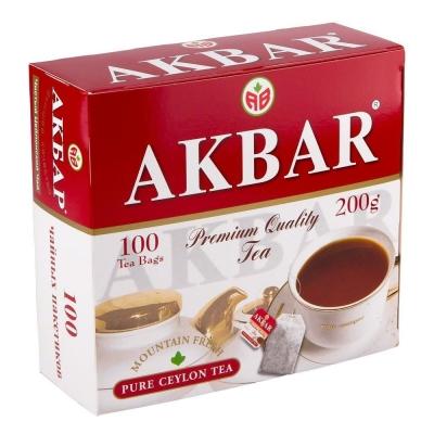 Чай Акбар Красно-белый Цейлон 100 пак.