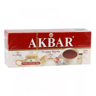 Чай Акбар Красно-белый Цейлон 25 пак.