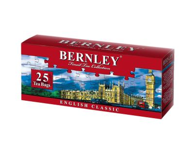 Чай Бернли Английский классический 25 пак с ярлыком