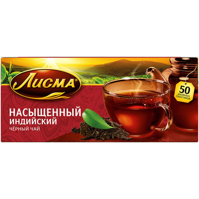 Чай Лисма Насыщенный 25 пак