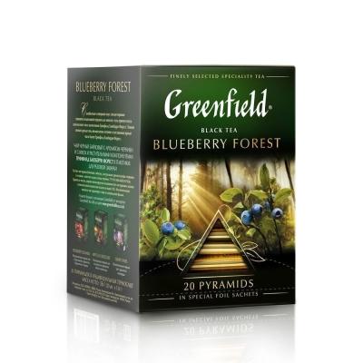 Чай Гринфилд Блюберри Форест 20 пак пирамида