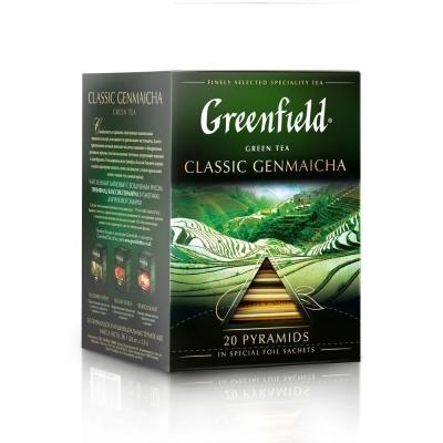 Чай Гринфилд Классик Генмайча 20 пак пирамида