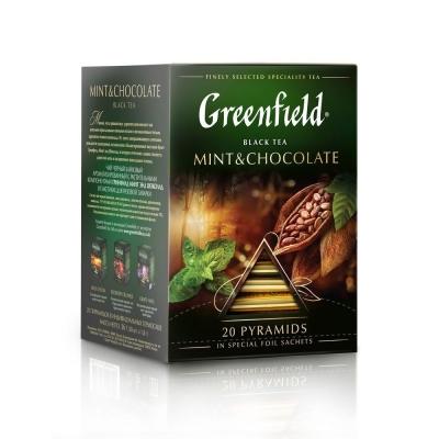 Чай Гринфилд Минт энд Шоколад 20 пак пирамида
