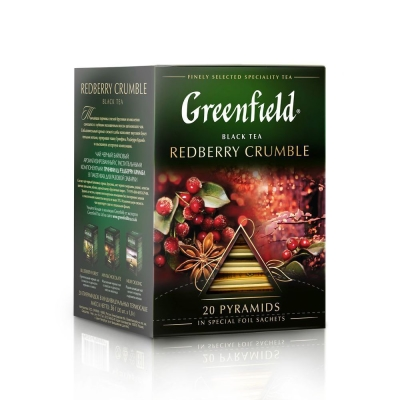 Чай Гринфилд Рэдберри Крамбл 20 пак пирамида