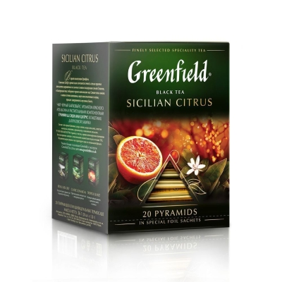 Чай Гринфилд Сицилиан Цитрус 20 пак пирамида