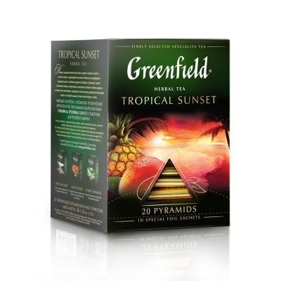 Чай Гринфилд Тропикал Сансет 20 пак пирамида