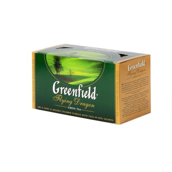 Чай Гринфилд Дракон зеленый 25 пак