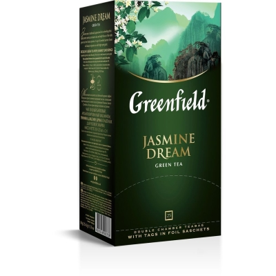 Чай Гринфилд Жасмин Дрим зеленый 25 пак