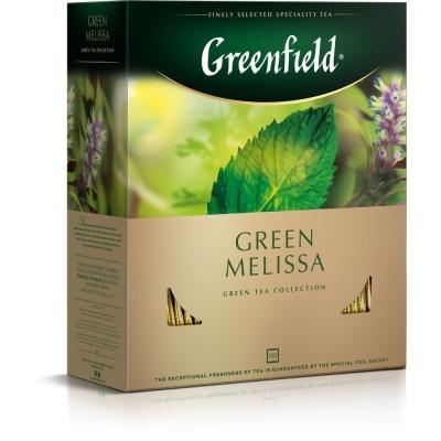 Чай Гринфилд Зеленая Мелисса 100 пак