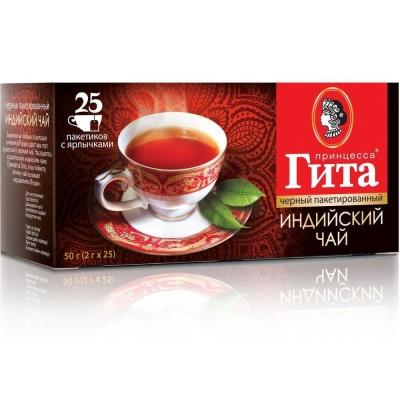 Чай Принцесса Гита Индия 25 пак с ярлыком