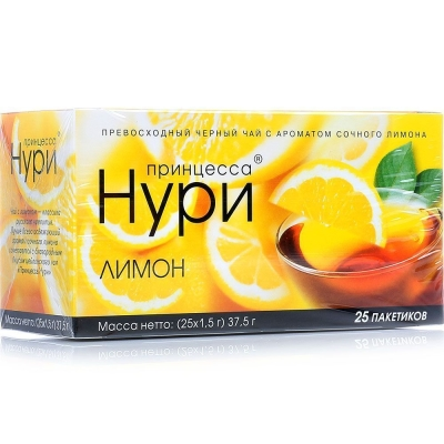 Чай Принцесса Нури лимон 25 пак