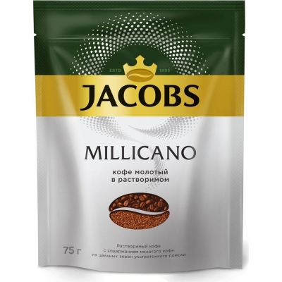 Кофе Якобс Монарх Millicano сублимированный с добавлением молотого