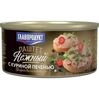 Паштет Главпродукт Нежный с куриной печенью