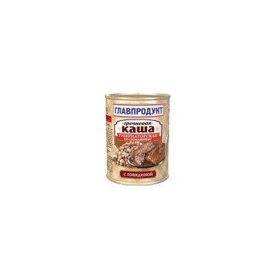 Каша гречневая Главпродукт с говядиной по-домашнему