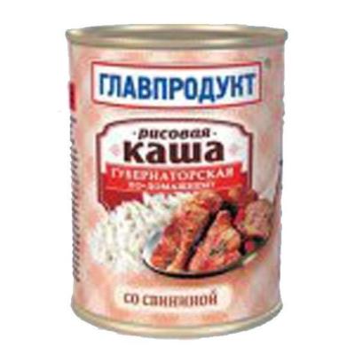 Каша рисовая Главпродукт со свининой
