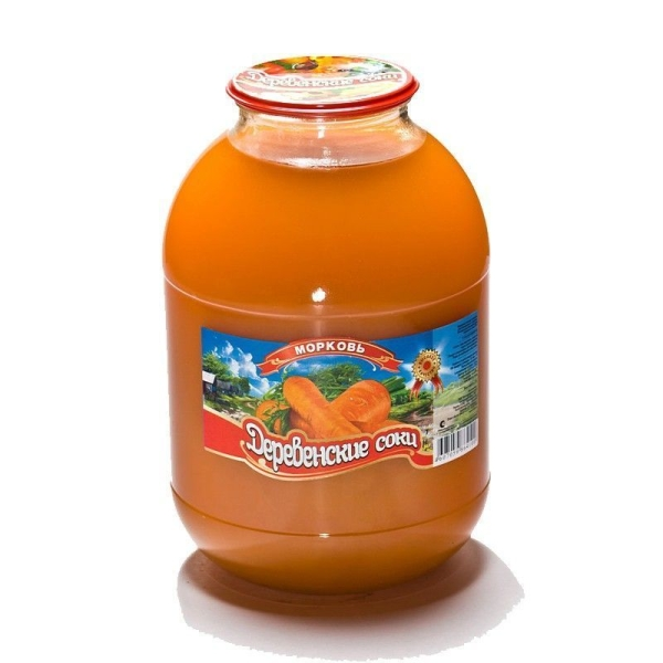 Сок Деревенские соки Морковный с мякотью