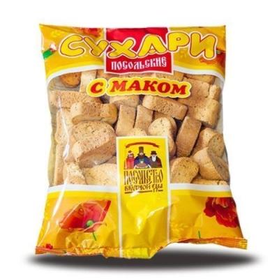 Сухари Посольство вкусной еды с маком (мини)