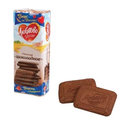Печенье сахарное Любятово Шоколадное