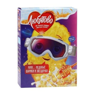 Готовый завтрак Любятово Медовые шарики и звездочки