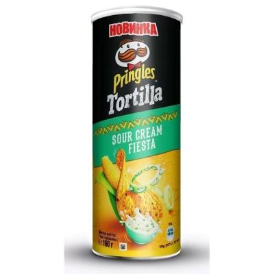 Чипсы Pringles Tortilla кукурузные со вкусом сметаны