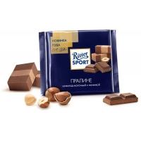 Шоколад молочный  Ritter Sport с пралиновой начинкой