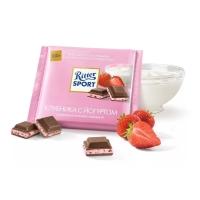 Шоколад молочный Ritter Sport Клубника с йогуртом