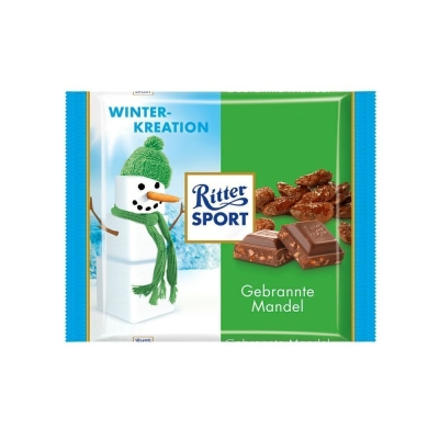 Шоколад молочный Ritter Sport миндаль в карамели