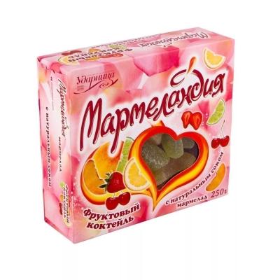 Мармелад Ударница Мармеландия фруктовый коктейль