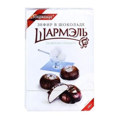 Зефир Ударница Шармэль со вкусом пломбира в шоколаде