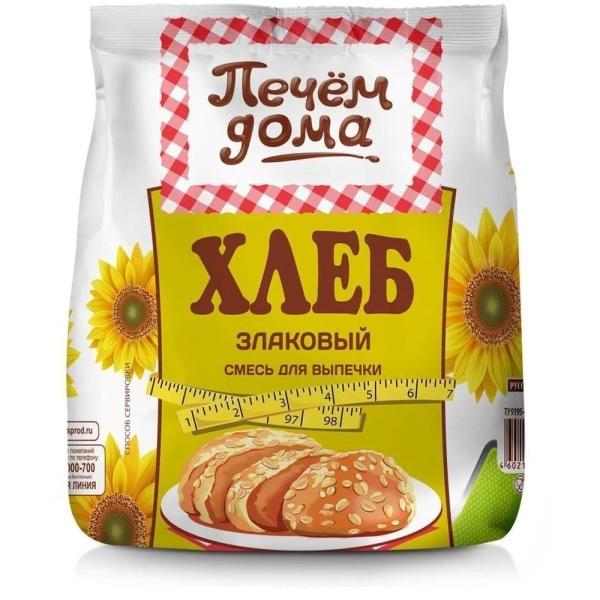 Смесь для выпечки Печем дома Хлеб Злаковый