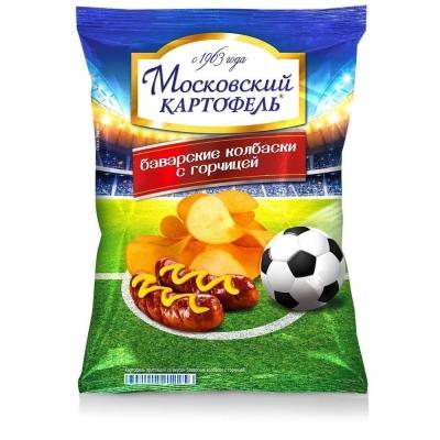 Чипсы Московский Картофель со вкусом баварских колбасок с горчицей