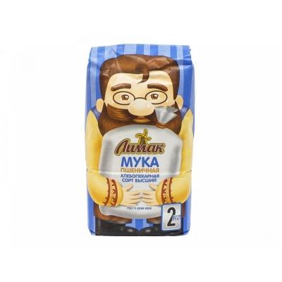 Мука Лимак пшеничная хлебоперканая высший сорт пакет