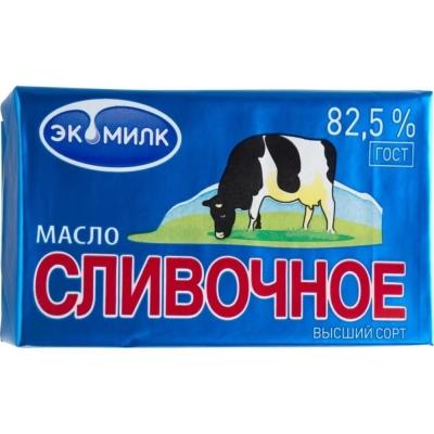 Масло 'Экомилк' Сливочное 82,5%
