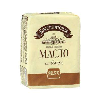 Масло 'Брест-Литовское' сладко-сливочное несоленое 82,5%