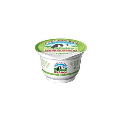 Сметанный продукт 'Альпийская коровка' 15%